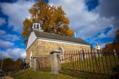 The Old Dutch Church, Sleepy Hollow, New York.