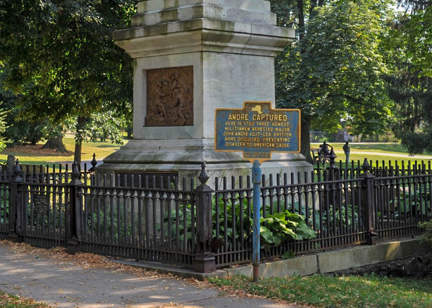 Andre captors monument, Tarrytown, New York