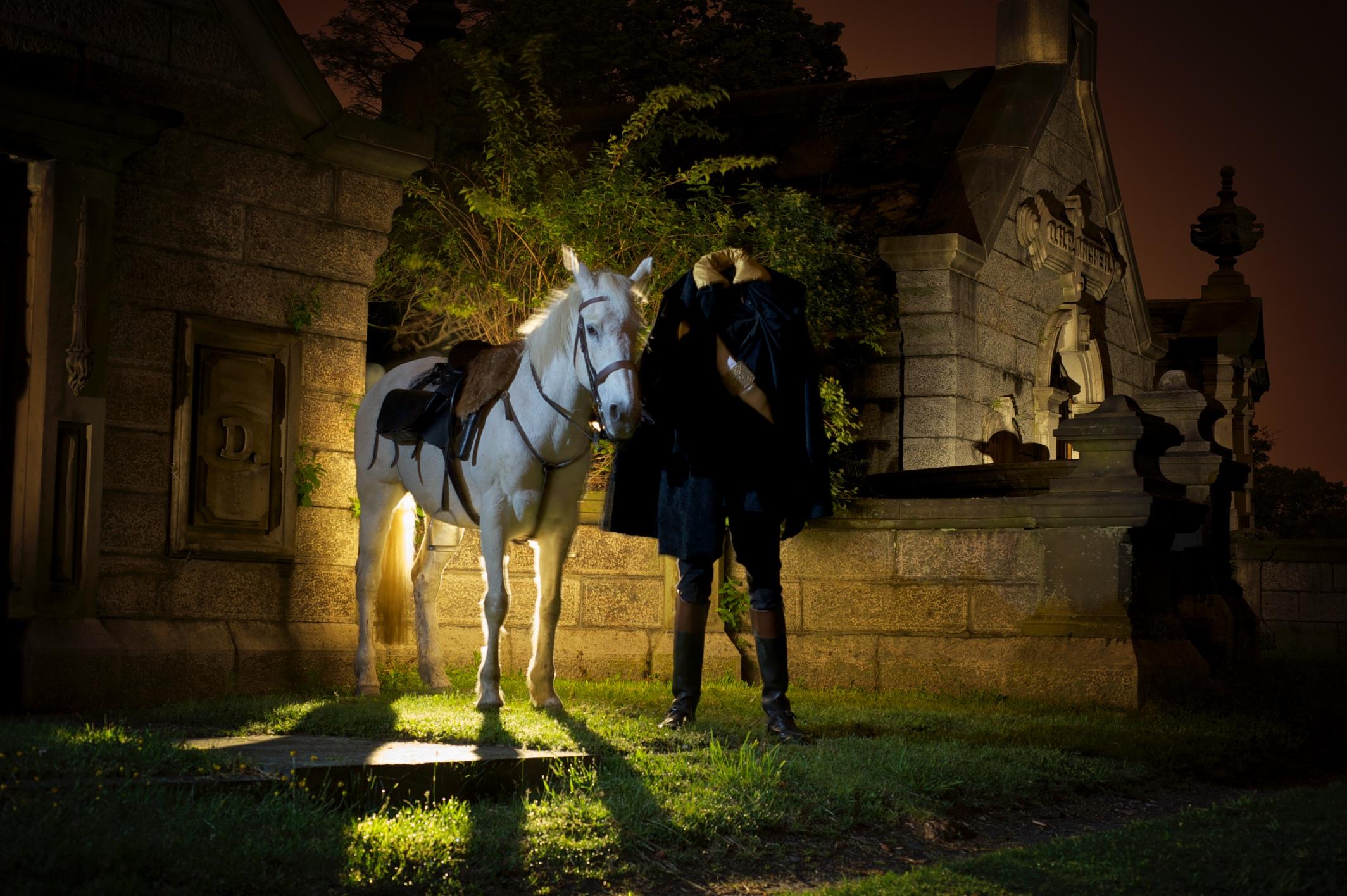 headless horseman at Sleepy Hollow Cemetery