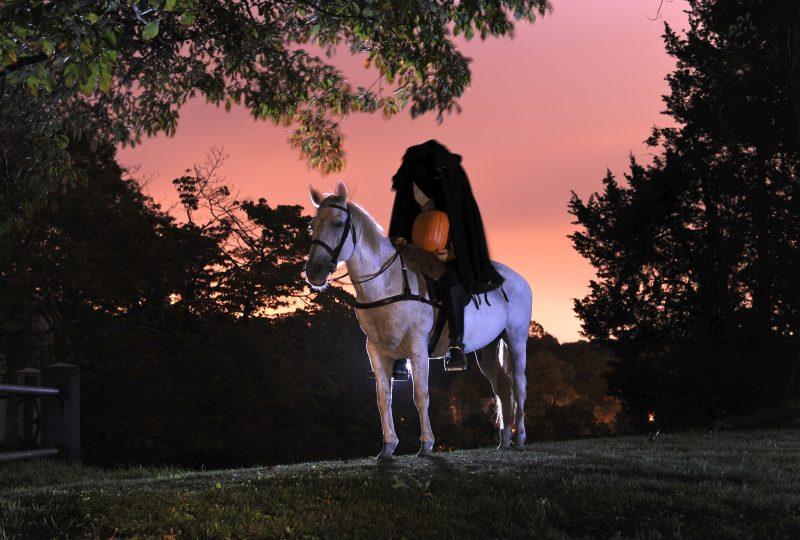Headless horseman at Sleepy Hollow Cemetery.